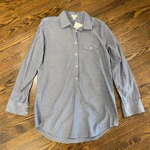 J Crew Blue shirt. Size small.